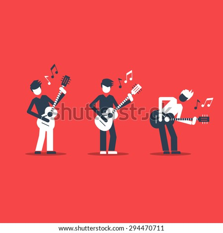 Jazz band performance. Bright attractive illustration for a cover or poster. - stock vector