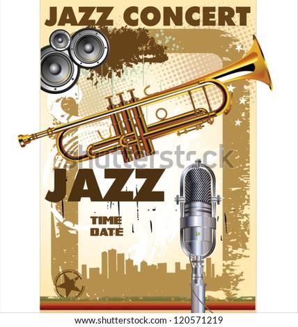 Jazz concert - Public viewing - stock vector