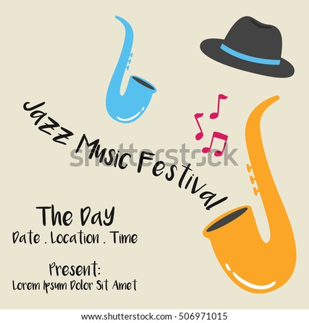 Jazz festival music concert poster template