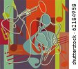 Jazz - festival poster or CD cover - stock photo