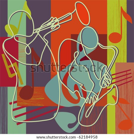 Jazz - festival poster or CD cover - stock vector