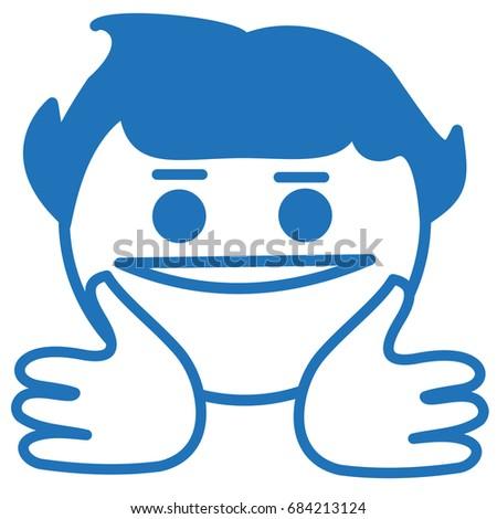stock vector jazz hands emoji simple hand drawn memetic emoticon meme based smilie funny cartoon character 684213124 jazz hands emoji simple hand drawn stock vector 684213124