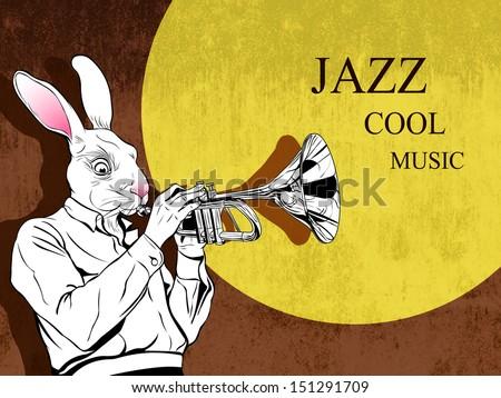 jazz-music - stock vector