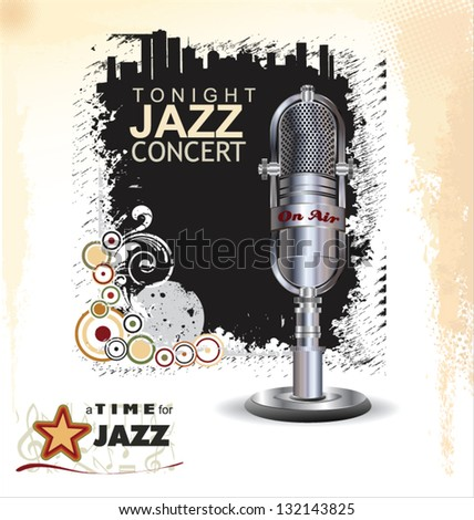 Jazz music background - stock vector