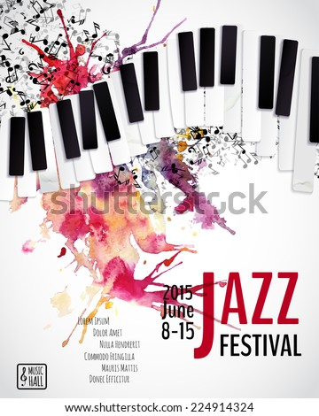 jazz music festival poster background template stock