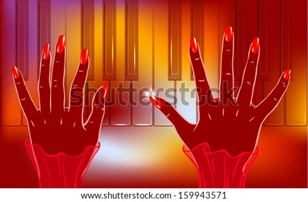 Jazz piano player. Smartly grouped and layered. You can use elements separately. EPS10. - stock vector