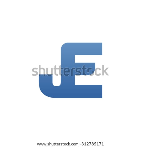 JE letter icon logo connected - stock vector