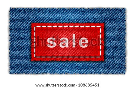 Jeans banner - stock vector