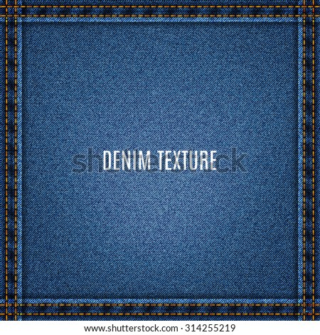 jeans blue texture fabric denim background. stock vector illustration eps10 - stock vector