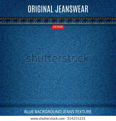 jeans blue texture material denim background. stock vector illustration eps10 - stock vector
