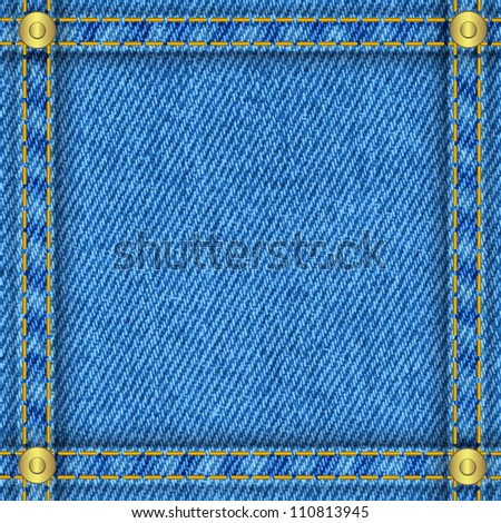 Jeans frame - stock vector