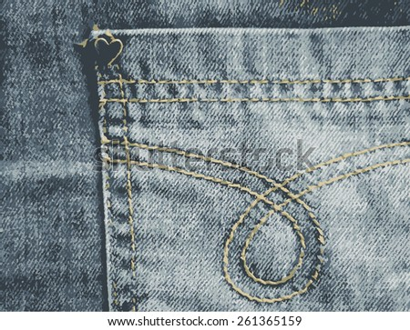Jeans Pocket Texture - stock vector