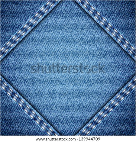 Jeans texture - stock vector