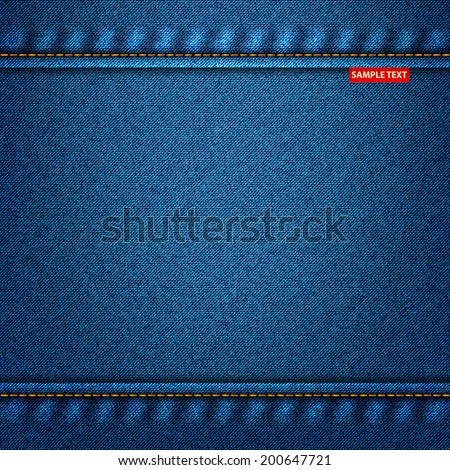 jeans texture material denim background. vector illustration eps10 - stock vector
