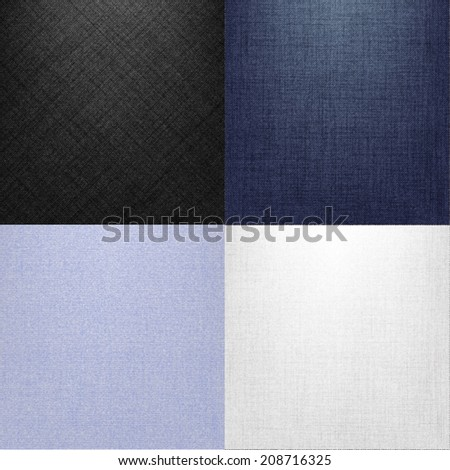 Jeans Textures - stock vector