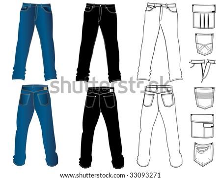 Jeans.Vector - stock vector