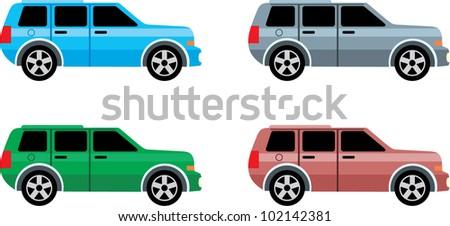 Jeep. vector - stock vector