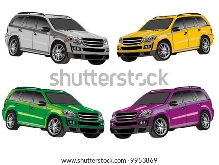 Jeeps - stock vector