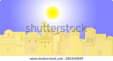 Jerusalem, Old City - stock vector