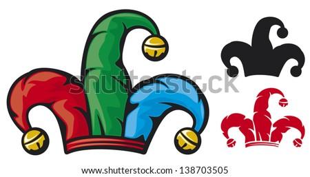 jester hat (cap of a joker) - stock vector