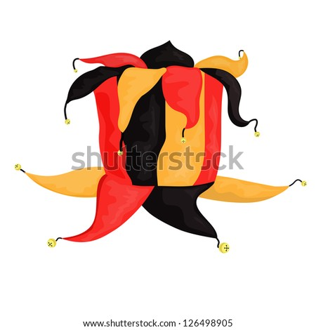 Jester headgear - stock vector