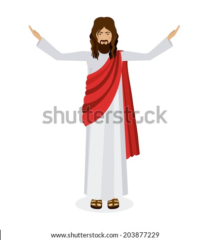 Jesus christ design over white background, vector illustration - stock vector