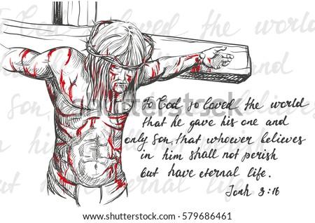 Jesus Christ Son God Crown Thorns Stock Vector 582934105