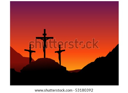 Jesus death on the cross - stock vector