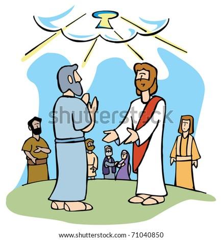 Jesus Offers Peter The Keys Of Kingdom Heaven