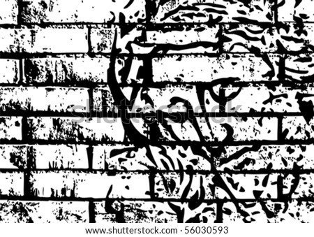 jesus on the wall - stock vector