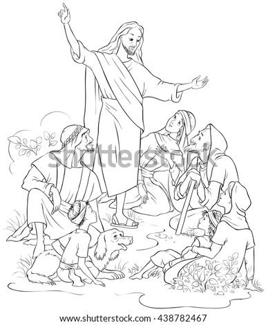Peter Preaching Whats In The Bible Sketch Coloring Page border=
