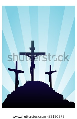 Jesus ressurection - stock vector
