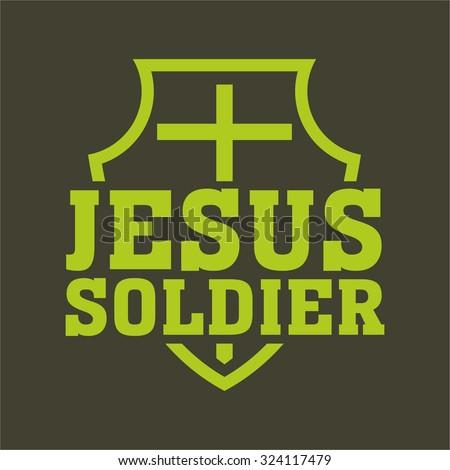 Jesus soldier - stock vector
