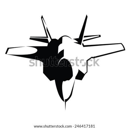 Jet Plane Symbol  - stock vector