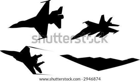 Jet Silhouettes - stock vector