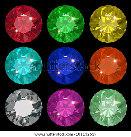 Jewel set.  - stock vector