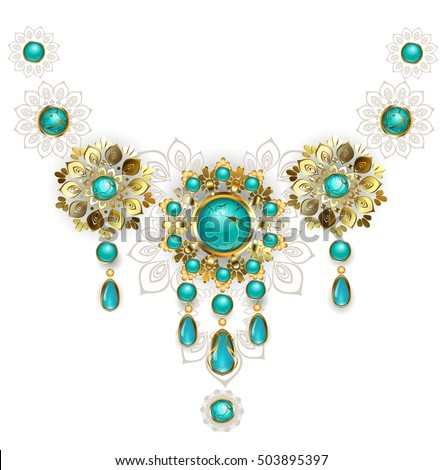 Jewelry Gold Jewelry Made Oriental Style Stock Vector