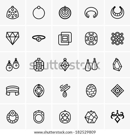 Jewelry icon - stock vector