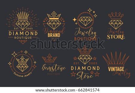 Jewelry logo set label template jewelry stock vector 662841574 jewelry logo set or label template for jewelry store jeweler business card vector typography cheaphphosting Image collections