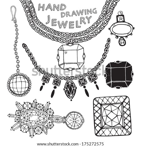 jewelry vector set  - stock vector