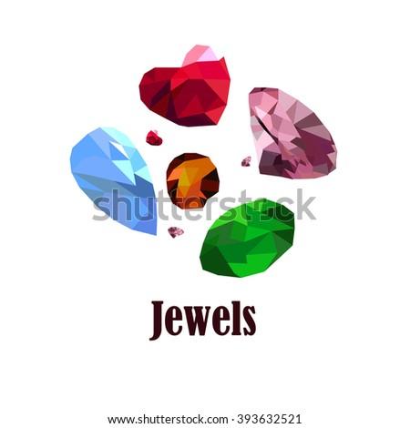 Jewels - stock vector