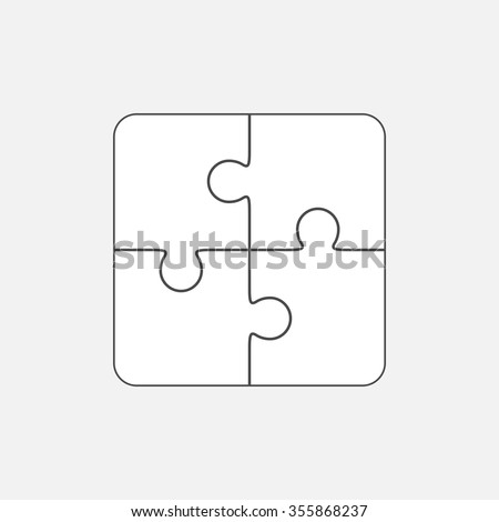 jigsaw puzzle vector blank simple template stock vector 355868237 shutterstock. Black Bedroom Furniture Sets. Home Design Ideas