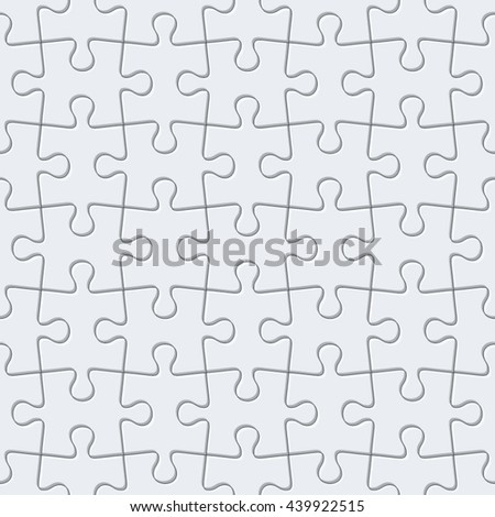 Jigsaw puzzle. Vector seamless pattern.