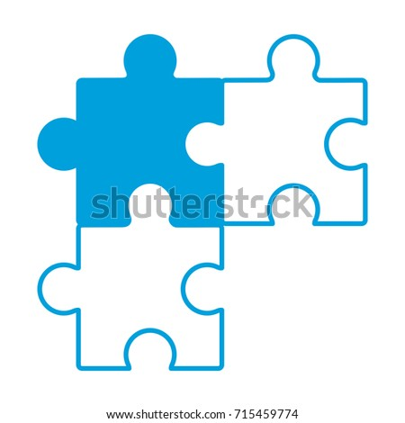 Jigsaw Puzzles Icon Stock Vector 715459774