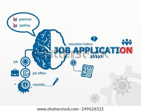 Job application concept - stock vector