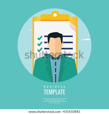 Job candidate assessment - stock vector