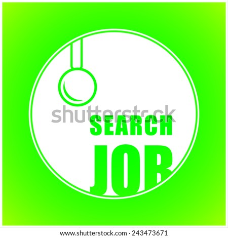Job concept - stock vector