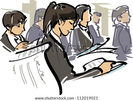 Job hunting - stock vector
