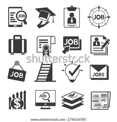 job icons - stock vector