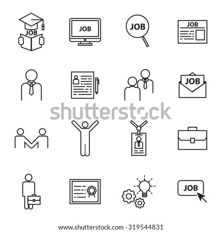Job Icon Images RoyaltyFree Images Vectors – Stocker Job Description